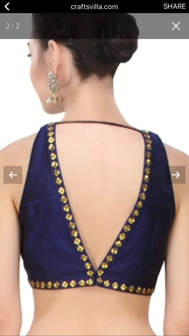 Studded choli back