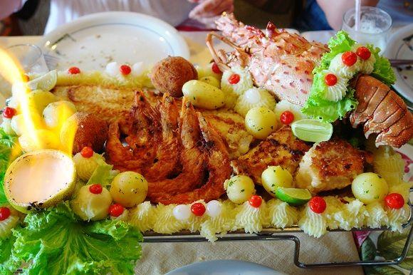 restaurante lago da sereia balneario camboriu itajai frutos do mar lagosta peixe camarao