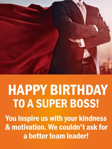 10 best birthday cards for boss images on pinterest happy birthday send free to a super boss happy birthday wishes card to loved ones on birthday greeting cards by davia m4hsunfo