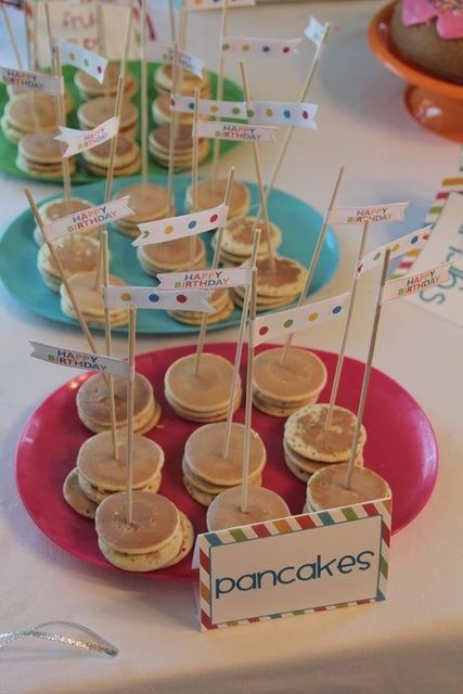 "Photo 2 of 43: Breakfast, Pajama Party / Birthday ""Pancakes & PJ's dual birthday party""   Catch My Party"