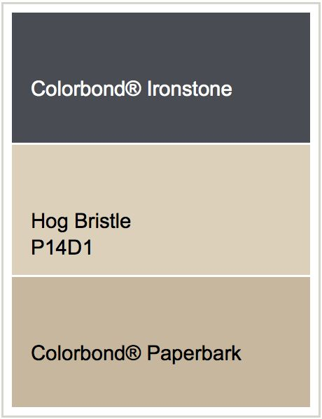 Roof - Ironstone | Render - Hog Bristle | Windows - Paperbark