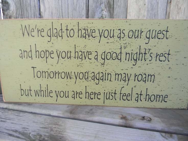 We're glad to have you - guest lake beach bed & breakfast sign. $26.00, via Etsy.