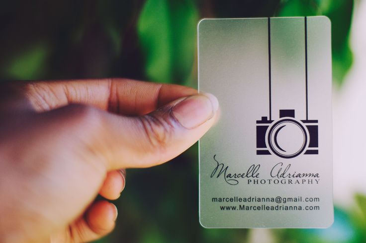 Marcelle Adrianna Photography Marcelle Adrianna Business Card Photographer Business Card Design