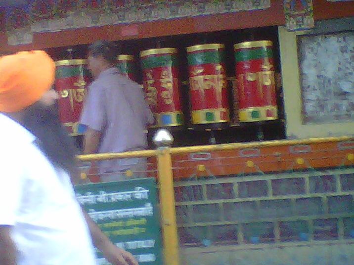 prayer wheels in Dharamsala