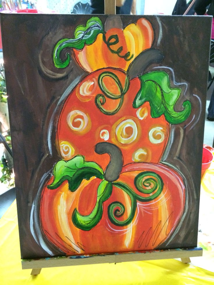 Pumpkins canvas painting