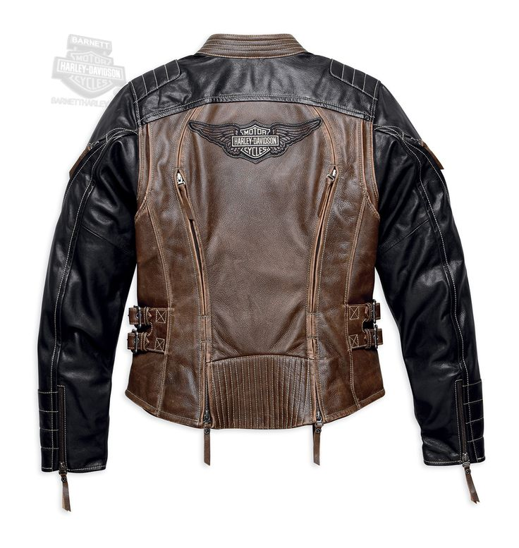Harley-Davidson® | 98105-16VW | Harley-Davidson® Womens Capitol Winged B&S Vintage Brown Leather Jacket