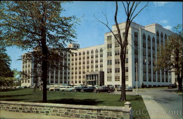 The New 650-Bed St. Vincent Hospital Worcester Massachusetts.  Now...basically all gone. Replaced by Med Center in downtown Worcester.