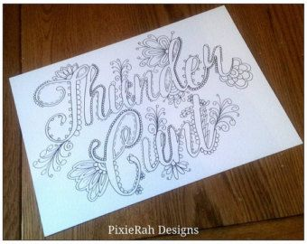 PRE-SALE Sweary Colouring Book by PixieRahDesigns on Etsy