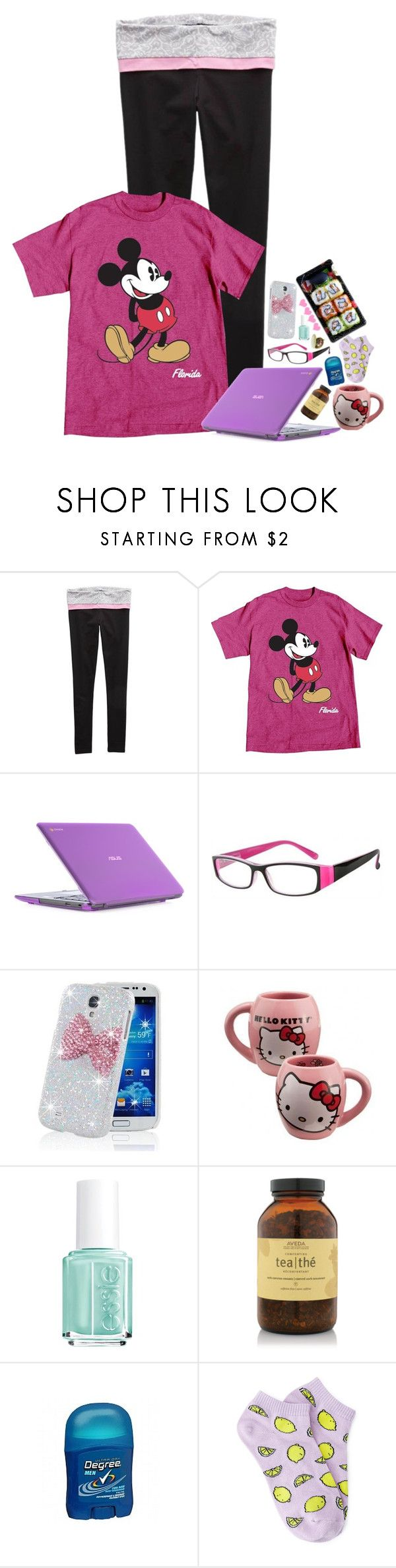 """Untitled #1046"" by emmzizleez888 ❤ liked on Polyvore featuring Aerie, Disney, ASUS, Samsung, Hello Kitty, Essie, Aveda, Forever 21, Pieces and vintage"