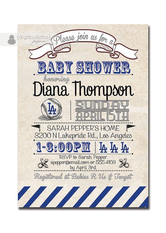 dodgers baby shower