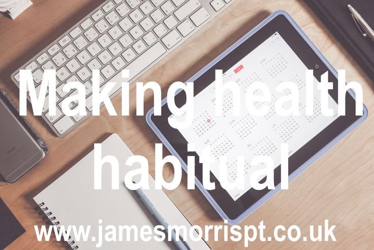 'Habits' are defined as actions that are triggered automatically in response to contextual cues that have been associated with their performance: for example, automatically washing hands (action) after using the toilet (contextual cue). Habits are also cognitively efficient, because the automation of common actions frees mental resources for other tasks.  Continue reading at http://jamesmorrispt.co.uk/blog/making-health-habitual/