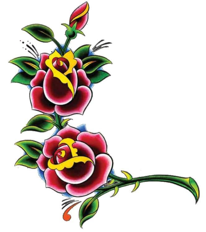 Rose tattoo artwork from the Christian Audigier Chardonnay bottle.