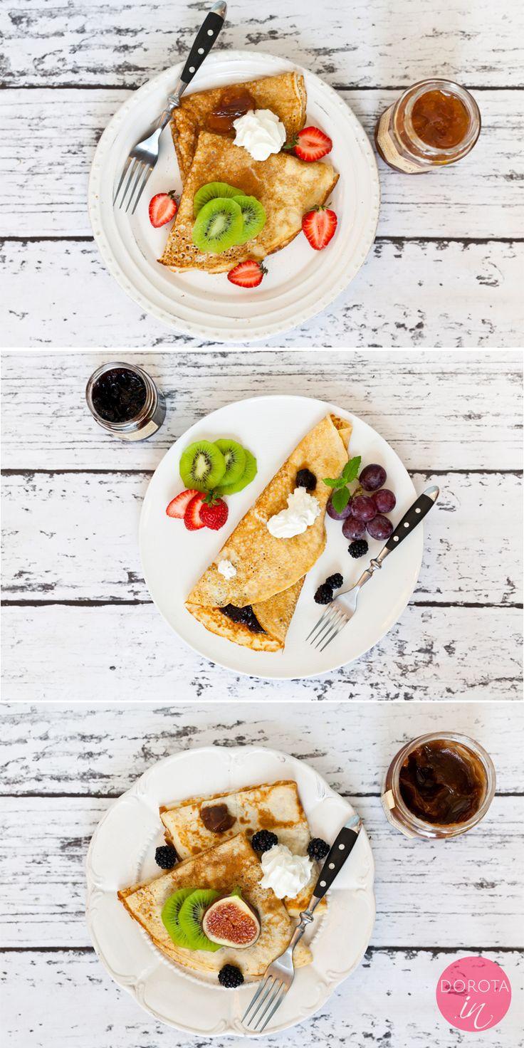 Crepes - cienkie #nalesniki francuskie z jajek, mleka, masła i cukru, przekładane konfiturami, nutellą lub z dodatkiem świeżych owoców.   http://DOROTA.iN/crepes-cienkie-nalesniki-francuskie/  #przepis #kuchnia