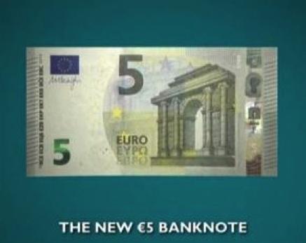 """Nouveau billet de 5 euros """"Europe"""""""