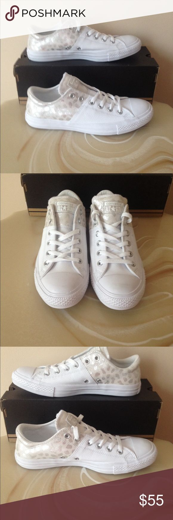 NWT woman's converse shoes with silver dots Comes with no lid Converse Shoes Sneakers