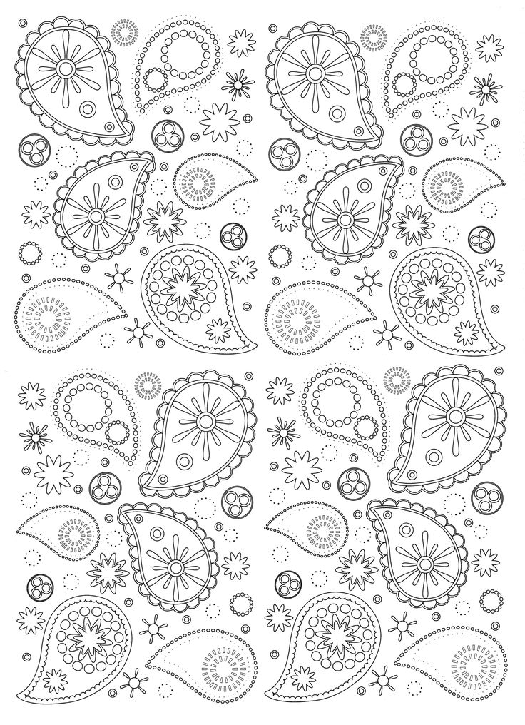 Free coloring page coloring-paisley. Beautiful and harmonious Paisley patterns to print and color
