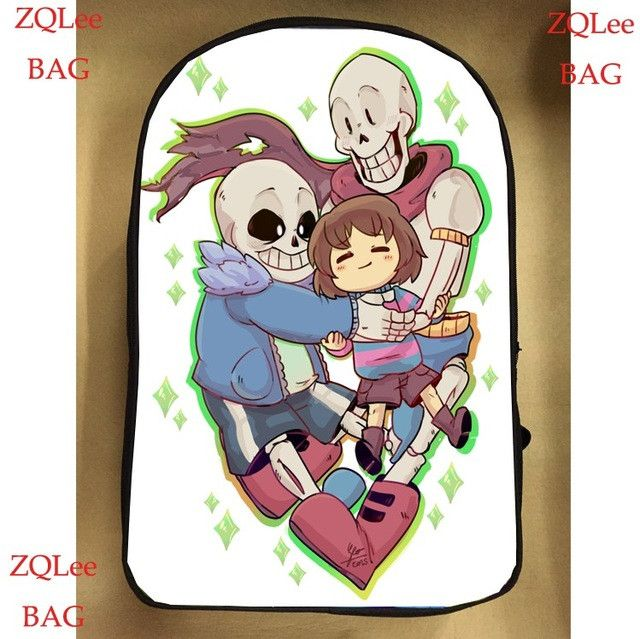 17inch undertale backpack double layer sans for boy and girl children School bags men women custom made