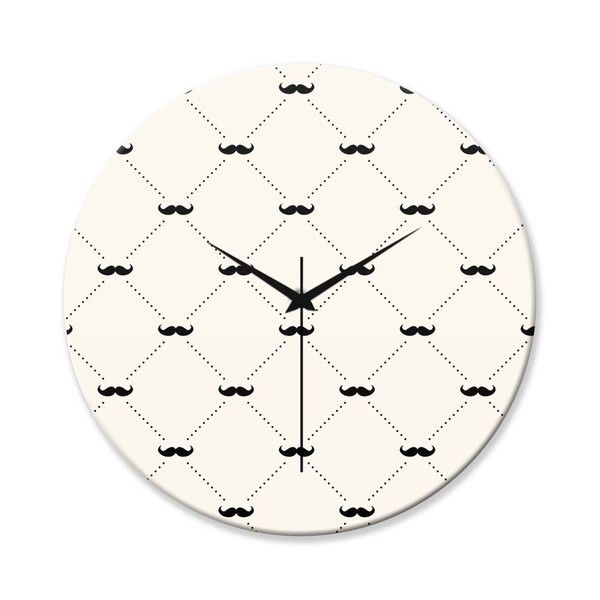 BigOwl | Moustache Quirky Pattern  Wall Clock Online India at PosterGuy.in