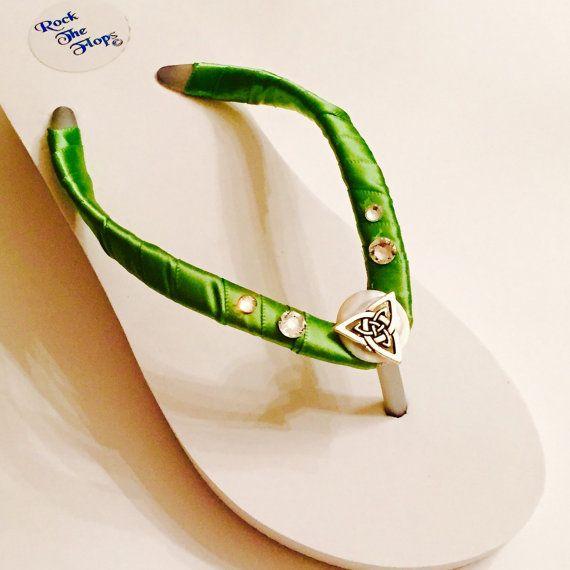 Irish Bridal Flip Flops/ Wedges. Wedding Flip Flops.IRISH