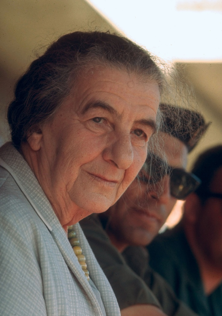 "Golda Meir - Israel - 1969: Meir was an Israeli teacher, kibbutznik and politician who became the fourth Prime Minister of Israel. Israel's first and the world's third woman to hold such an office, she was described as the ""Iron Lady"" of Israeli politics years before the epithet became associated with British Prime Minister Margaret Thatcher. Former Prime Minister David Ben-Gurion used to call Meir ""the best man in the government."" #womens #history #powerful #jewish #women"