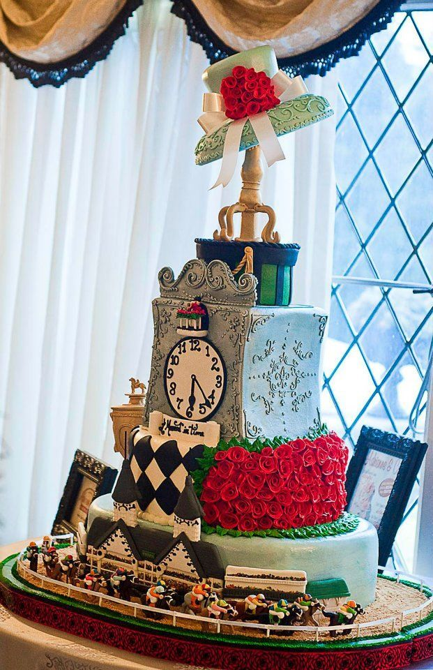 Kentucky Derby Hat Themed Bridal Shower Cake And Cupcakes Bridal