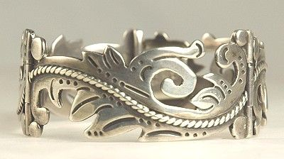 Vintage Mexican Silver Bracelet Signed MARICELA - Isidro Garcia Pina