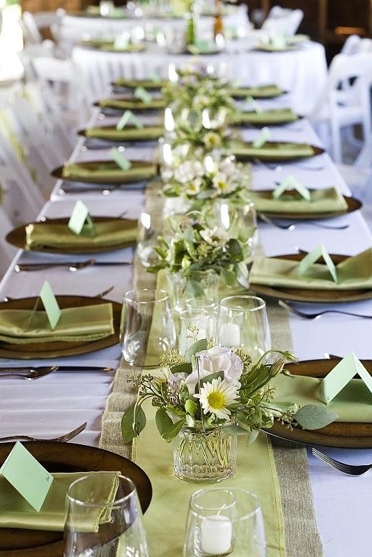 Emerald Green Wedding Reception Table Settings Decorations