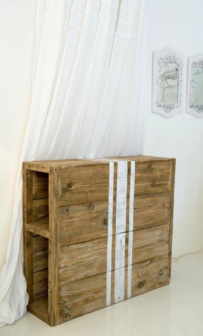 Testata in legno di recupero Luxe Lodge - TESTATE LETTO - MOBILI