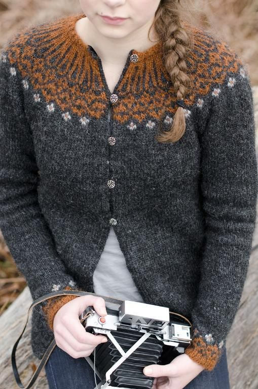 Perfect, perfect. Volcanic Maren knit by Kathy Cadigan.