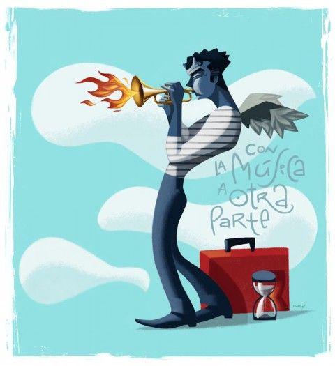 Illustration - David de Ramón - The Mushroom Company - blower angel