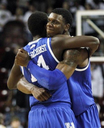 :)Big Blue, Bbn Btches, Wildcats Win, Bleeding Blue, Kentucky Basketbal, Hug Teammates, Jones Hug, Blue Brother, Kentucky Wildcats