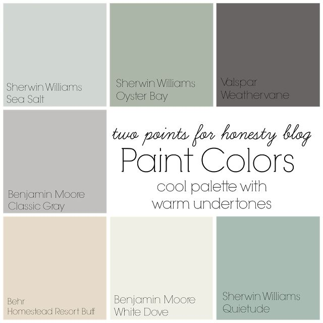 High Quality Two Points For Honesty: Whole House Paint Palette