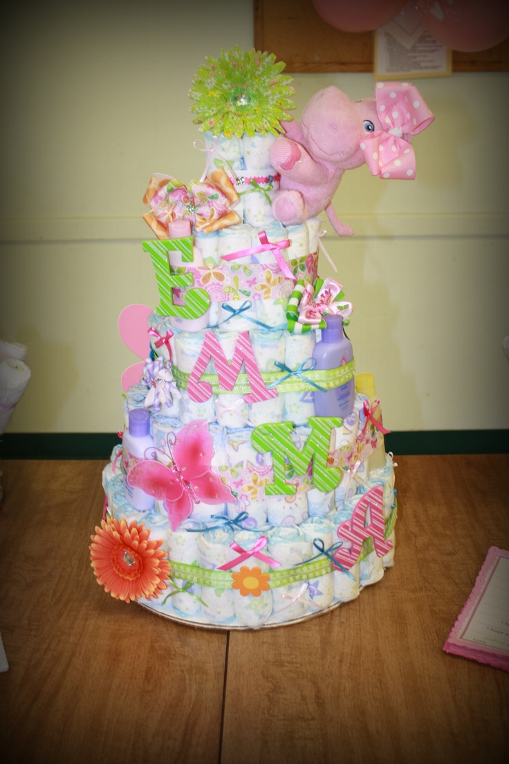253 Best Diaper Cakes Images On Pinterest