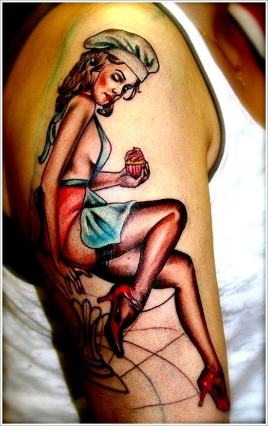 With the revival of the popularity and preference of the pinup girl as a tattoo design, many of the old designs are making a comeback in a big way. Description from tattooeasily.com. I searched for this on bing.com/images