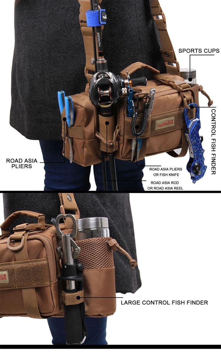 """ This bag is meant for essential things to bring with you when you're fishing.  I live in California and for fishing in the mountain streams I believe it's the"