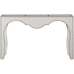 Nail Studded Linen Console Table
