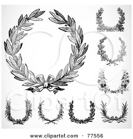 Black-And-White-Laurel-Wreaths. Designing/ideas of new tattoo