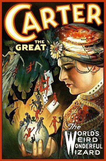 Carter The Great  Magician Magic Poster