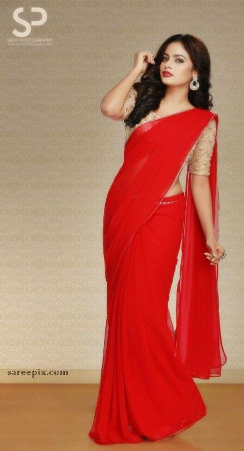 actress_nandita_swetha_red-saree_photoshoot_stills