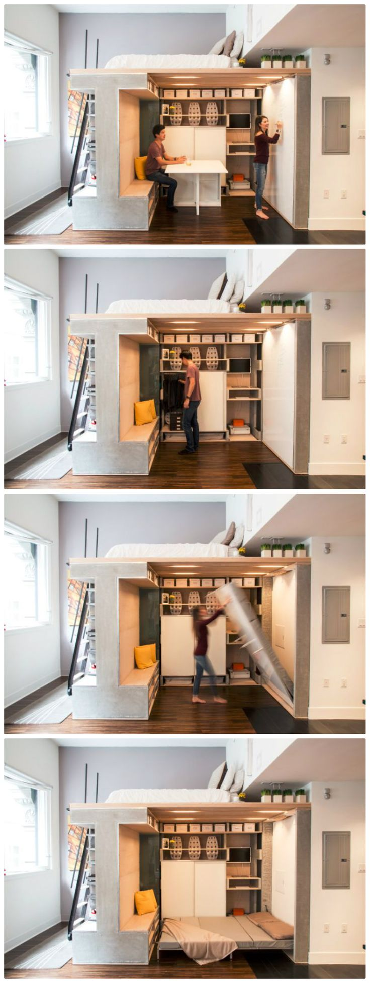 Multi Functional Loft Transforms A Small Condo Into A Dynamic Space