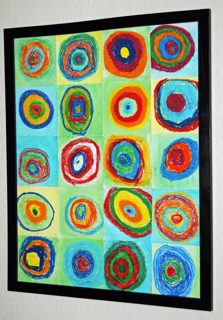Kandinsky Copy; 3rd graders; Oil Pastels; Silent Auction Spring 2011