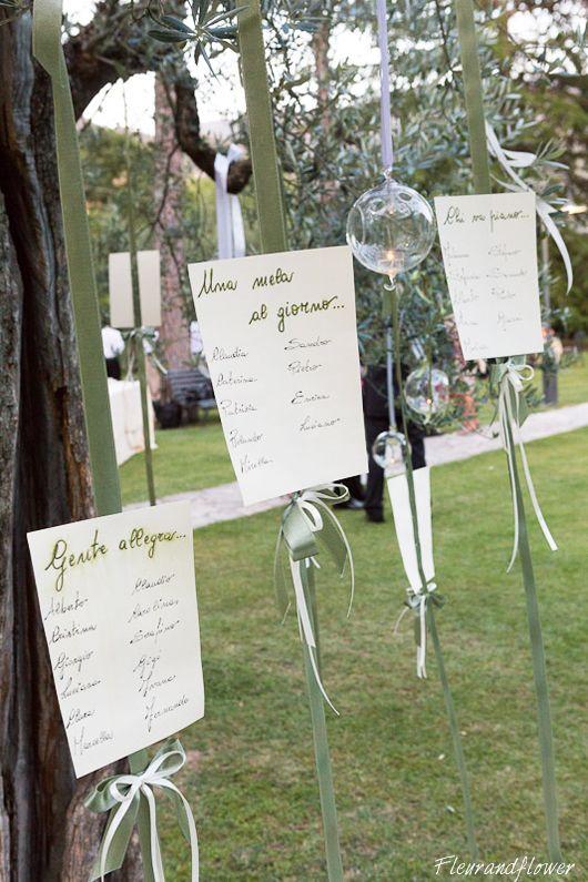 Tableau e sfere decorative per matrimonio