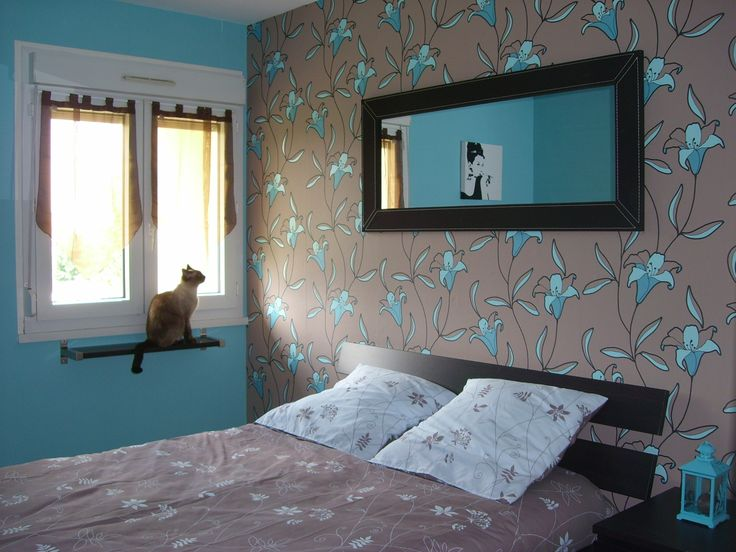 d co int rieur bleu et gris chambre photo 1 1 chambre turquoise et chocolat d co. Black Bedroom Furniture Sets. Home Design Ideas