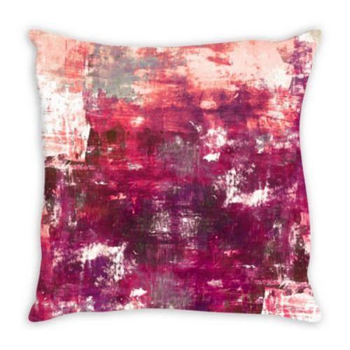 DIGRESSION FUCHSIA PINK Watercolor Suede Throw Pillow Cushion Cover #magenta #homedecor #decor #fuchsia #pinkdecor #interiors #watercolor #girly #dorm #cushion #throwpillow #pillowcover #euro #suede
