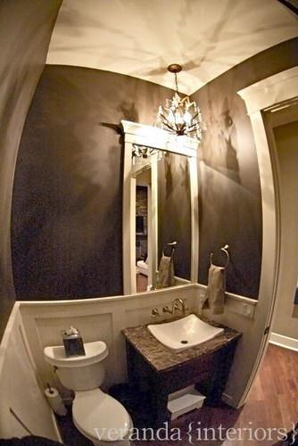 Strange photo but nice rustic bathroom- Veranda interiors located in Calgary?