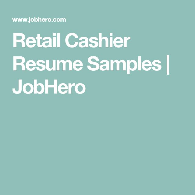 The 25+ best Cashiers resume ideas on Pinterest Artist resume - cashier resume