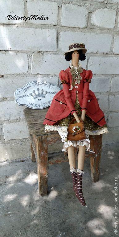 Купить кукла тильда ручной работы ДАМОЧКА))) - рыжий, коричневый, кукла ручной работы