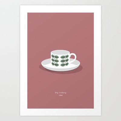 Berså coffee cup Art Print by bittersweat - $20.00