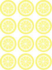 lemon circle printable. invite? or tags?