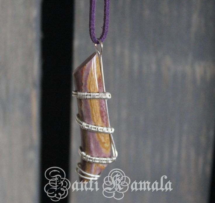 Hickoryite jasper in silver necklace/silver necklace/jasper necklace/sterling silver fill/statement necklace/stone jewelry/handmade jewelry by ZantiKamala on Etsy